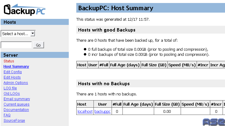 Host Summary